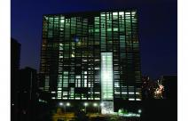 Cube project by night global view
